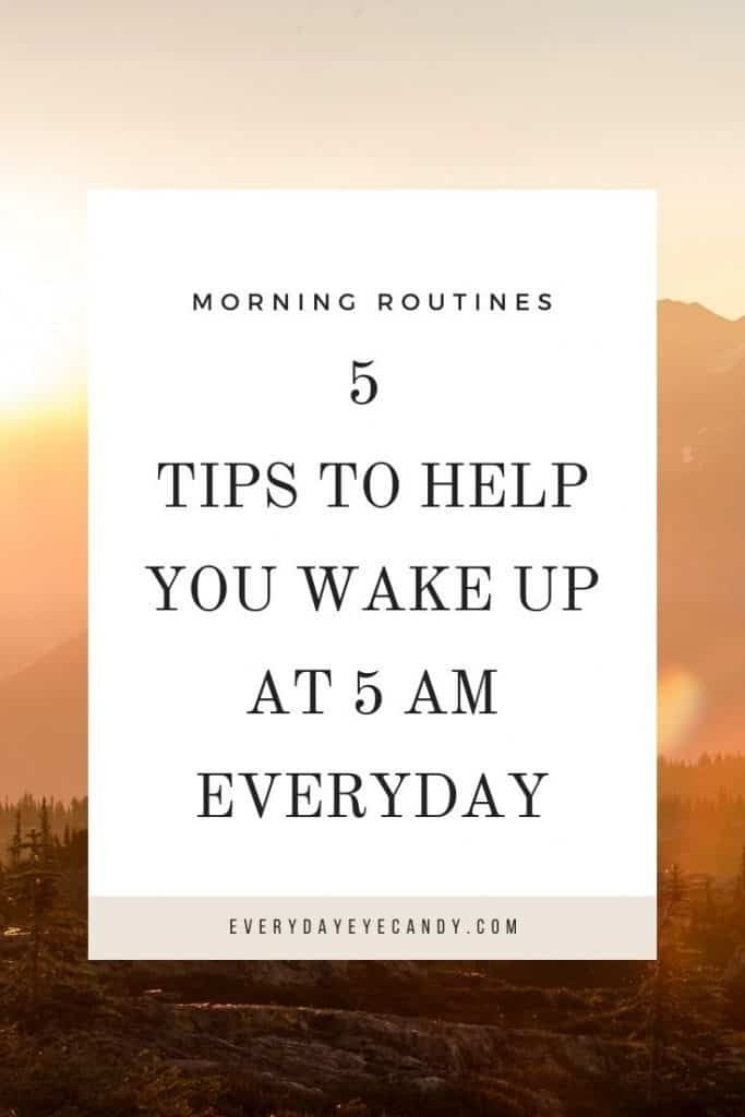 Even in a Pandemic: 5 Tips to Help You wake up at 5 am Everyday .  #Morningroutine #5amclub