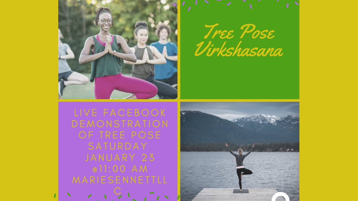 Come see the live demo of Tree Pose and its modifications. #yoga #newburghyoga #mariesennettllc