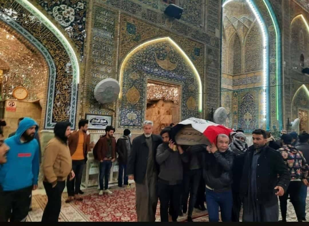 Funeral of some of the victims of the tragic bombing yesterday in Baghdad, taking place in the holy shrine of Imam Ali (as) in Najaf. #Baghdad #WeStandWithYou #explosion #Iraq #terrorism #westandwithiraq