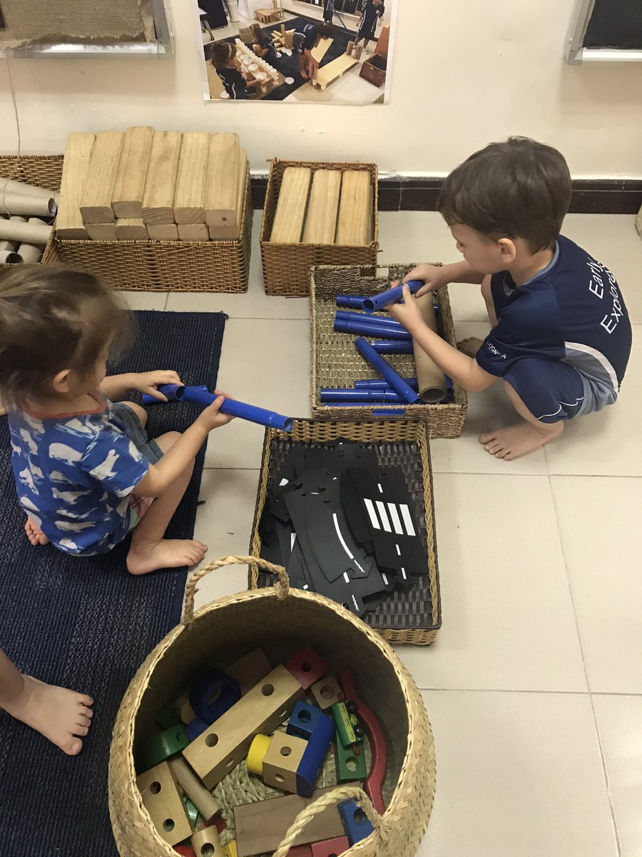 Needed a bit of Friday fun... took our 2 and 3yr olds to the piazza. They loved the metal rods!!! They were engrossed trying to connect them and measure themselves #playislearning #EarlyExplorers #ishcmcib #wonder