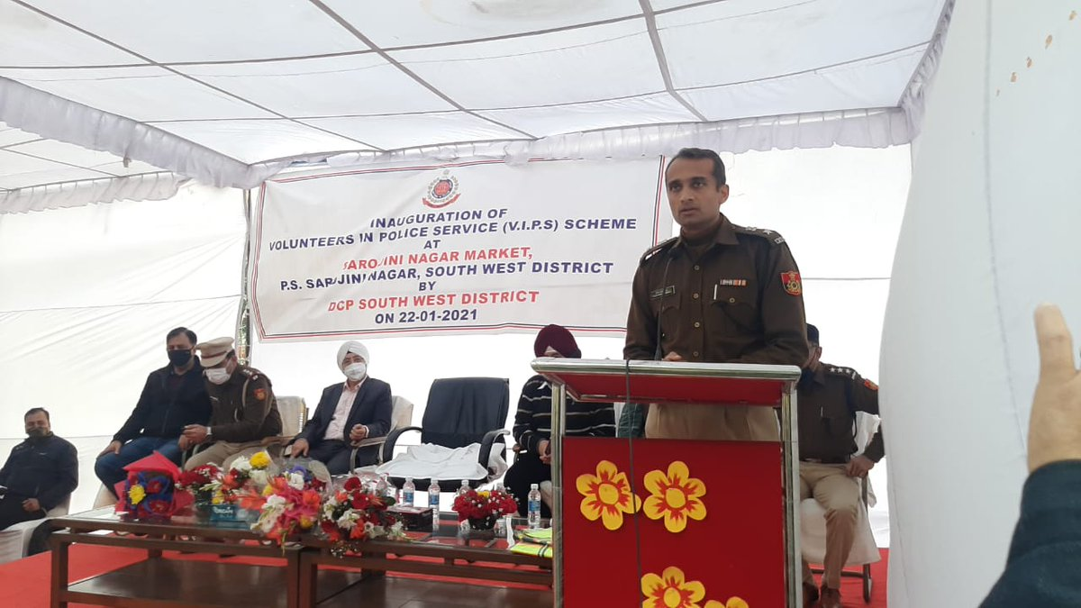 "South west District Police has launched an auspicious ""Volunteers in Police Service program"" to induct willing people who want to serve voluntarily for the safety and security of public at large as a force multiplier and to make them Eyes and Ears' of Delhi police."