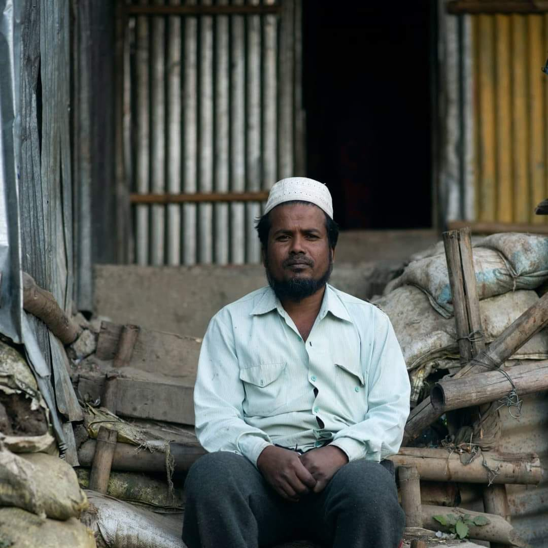 """Muhammad A.- Displaced from Myanmar.  """"With only a thin tattered lungi draped over to cover our fleeting dignity, I and my family stealthily moved through the streets. Now with the sun gone, the glimmeringly starlight was our only guide. The Chronicles of the Rohingyas. #unhcr https://t.co/urzA7sL0HO"""