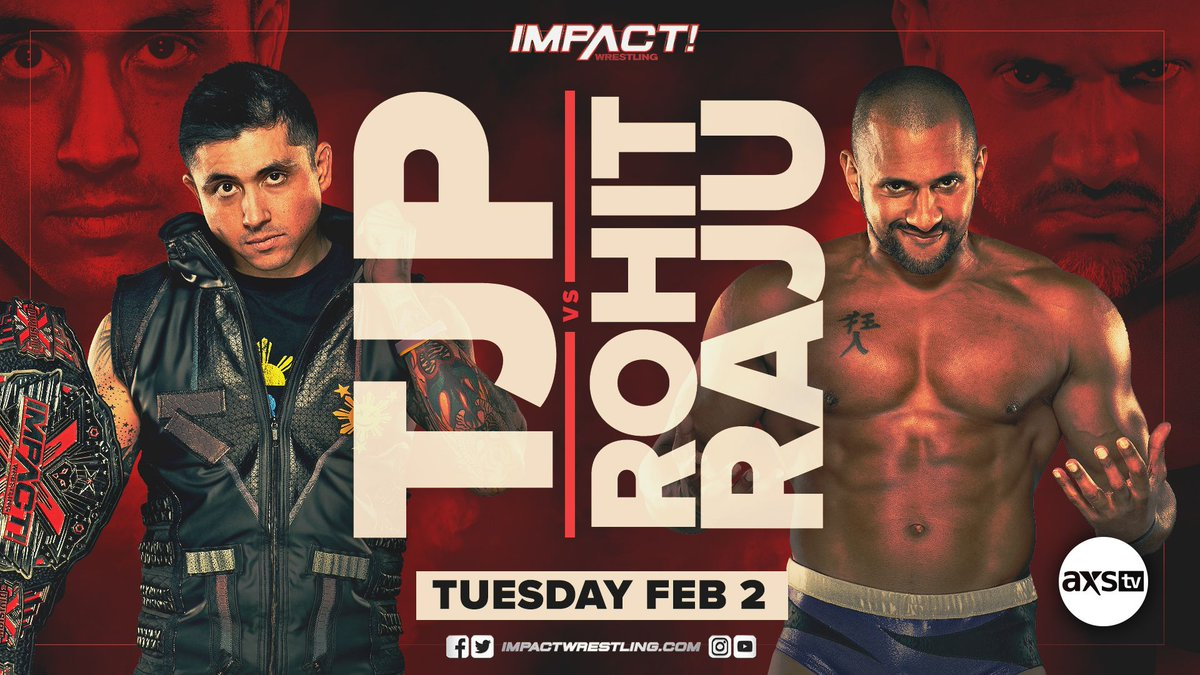 .@MegaTJP will face @HakimZane in NON-TITLE action on February 2nd on IMPACT! #IMPACTonAXSTV