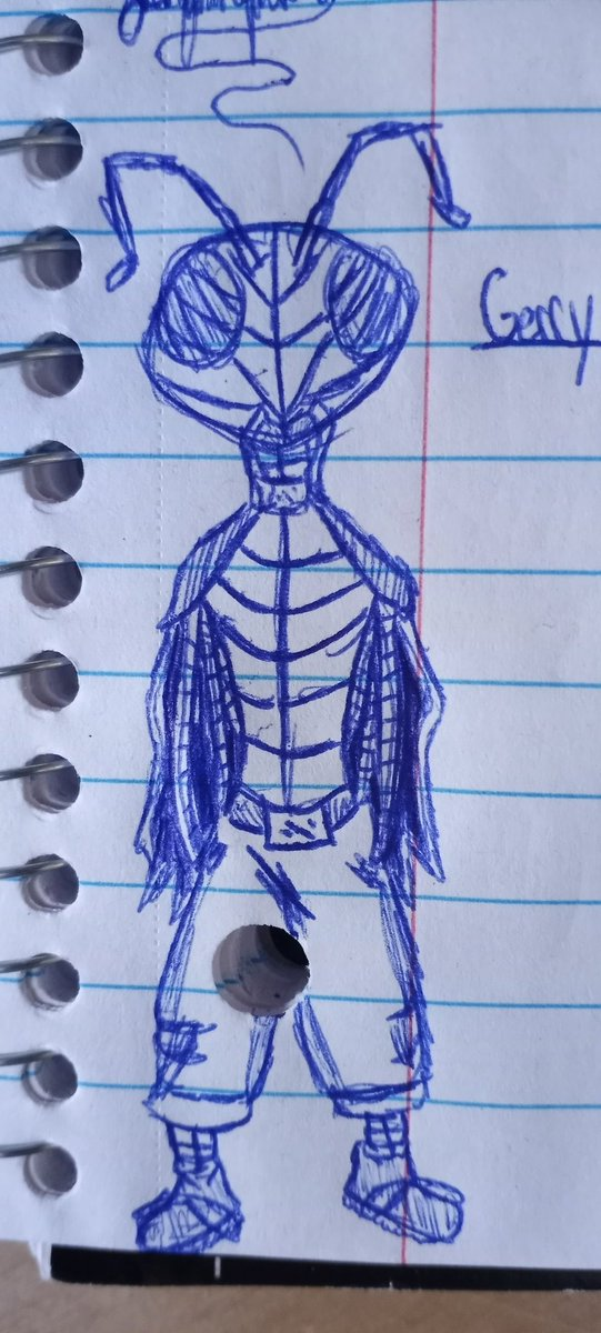 It's the homie, Gerry #sketch #doodle #originalcharacter #bugs #insect #drawings #art #ant