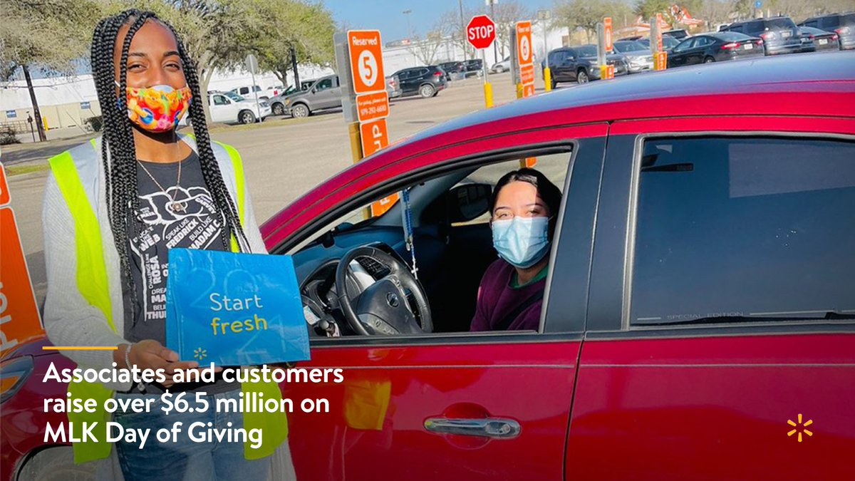 Together, our associates and customers inspired us, helping to raise more than $6.5 million through the MLK Day of Giving. Thank you for your generosity in making the day so successful.