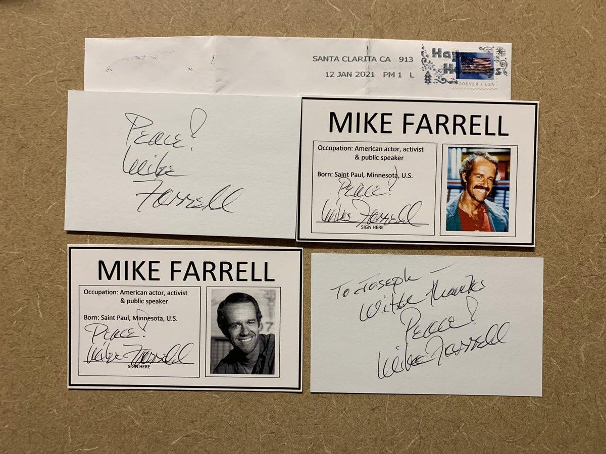 #MikeFarrell #actor #TV #movies #TTM #Memorabilia #Autograph #Autographs #AutographCollector #actress #AutographCollection #GreatGuy #ThankYou #TTMSuccess #TTMAutographs #MailDay