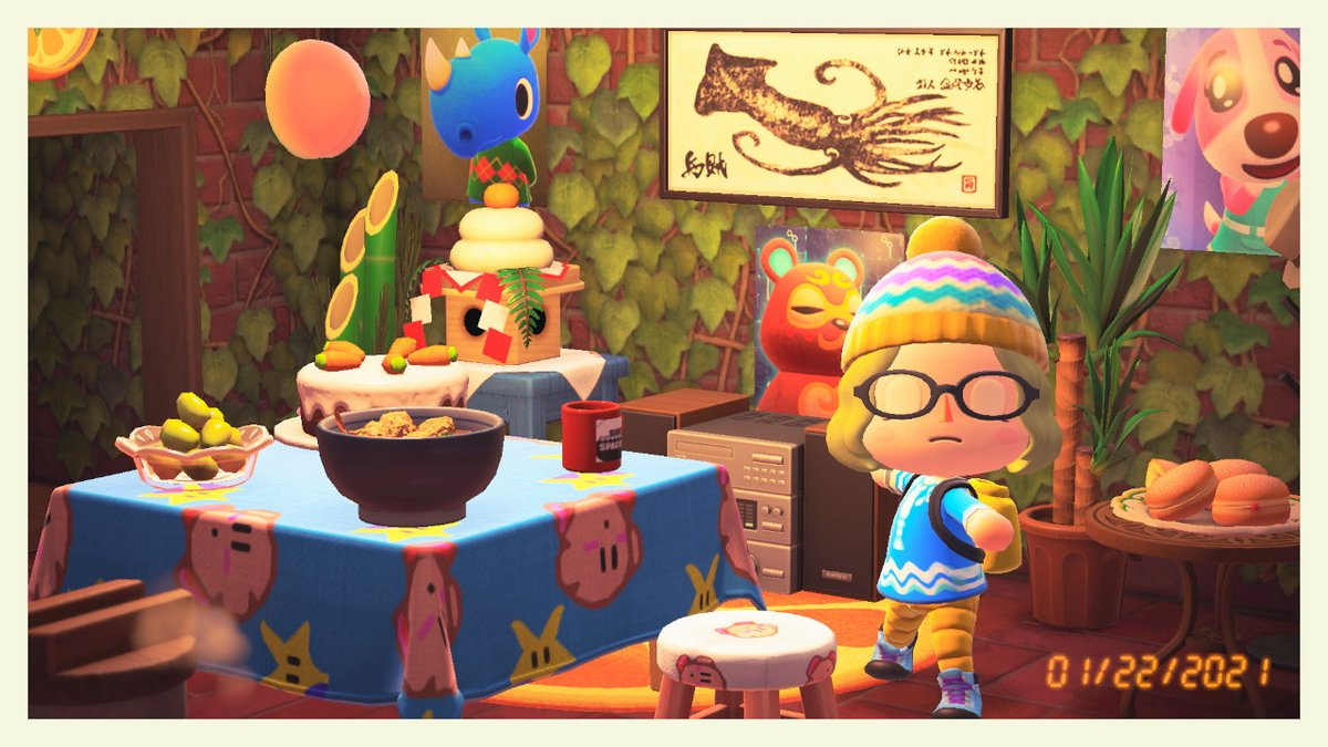 Imitating real life. Yoga in my kitchen :D #AnimalCrossing #ACNH #NintendoSwitch