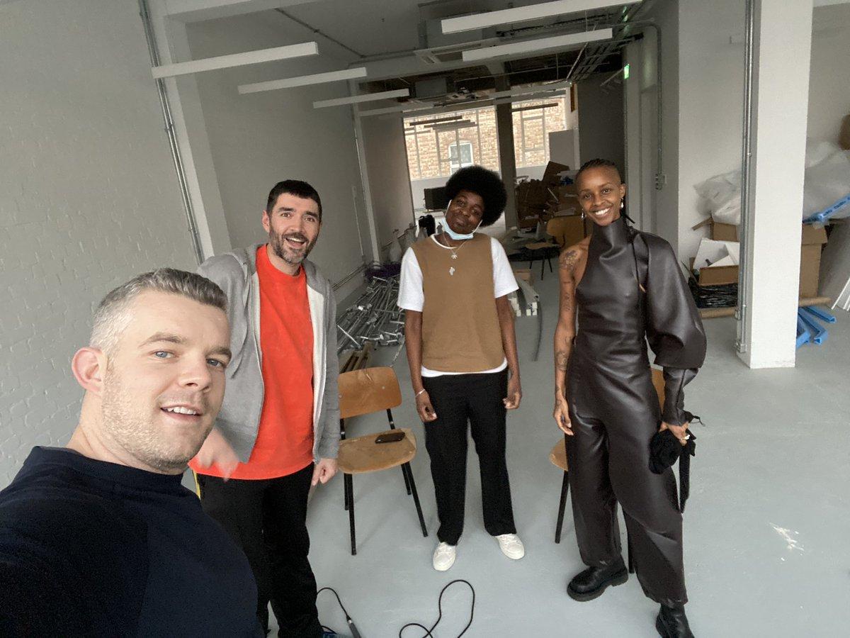 🎨❤️🎧🎤🥰 NEW @talkart!!! Russell & Robert meet artists #RonanMcKenzie and @joyyamusangie #JoyYamusangie at new multifunctional creative space HOME by Ronan McKenzie, on Hornsey Road, London. We explore their joint exhibition & film 'WATA'. Listen now:
