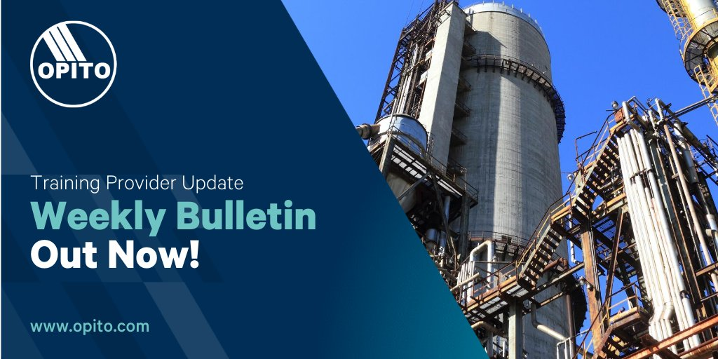 Our weekly training provider update is out now ❗️   To receive updates, please contact your regional office or email your training centre, and region, to externalaffairs@opito.com  #bulletin #email #skills #training