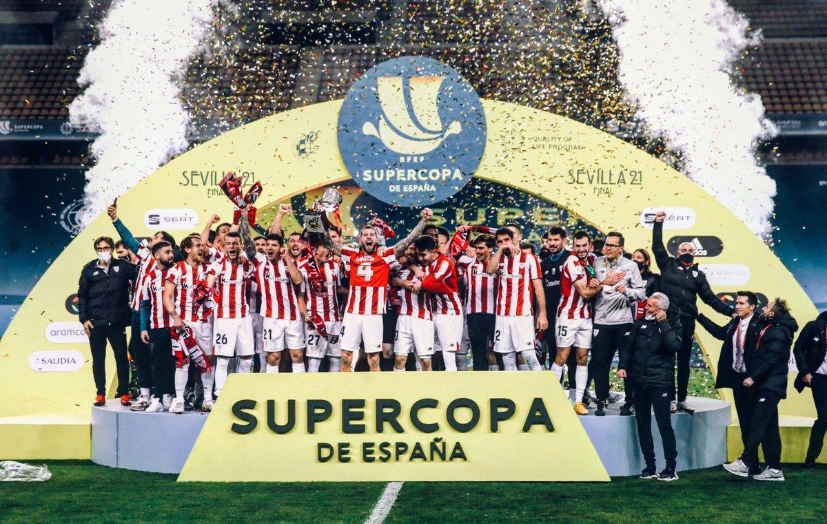 Supercopa de España winner is Athletic Bilbao after a crazy victory against Barcelona. 🎊🏆 #athleticbilbao #athletic #bilbao #supercopadeespaña #winners