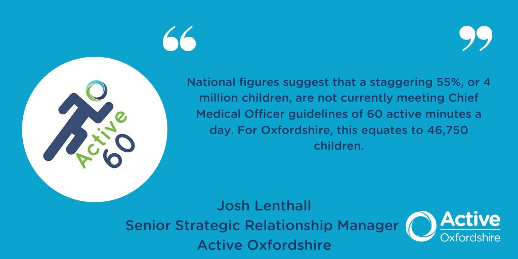 The new Active Lives data is in, and there is deep cause for concern. @joshlenthall takes a look at the crisis unfolding behind the numbers, and sets out our plans to help every child in Oxfordshire achieve 60 active minutes, every day 👇 https://t.co/0KjxABjm0J #Active60