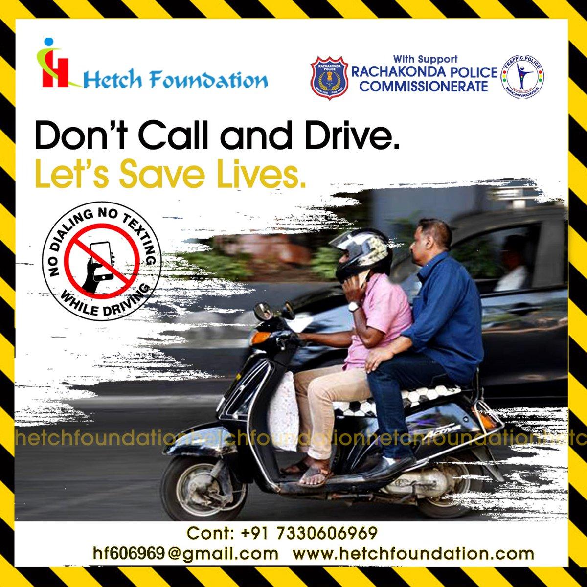 Don't Call & Driving..............! @RachakondaCop @NITIAayog  @nitin_gadkari   #RoadSafetyWeek #safetyfirst #drivesafe #accident #NoCellPhoneDriving #safedriving #roadsafetycampaign #safetytips #staysafe #drivingsafety #roadsafetyawareness #safetydriving