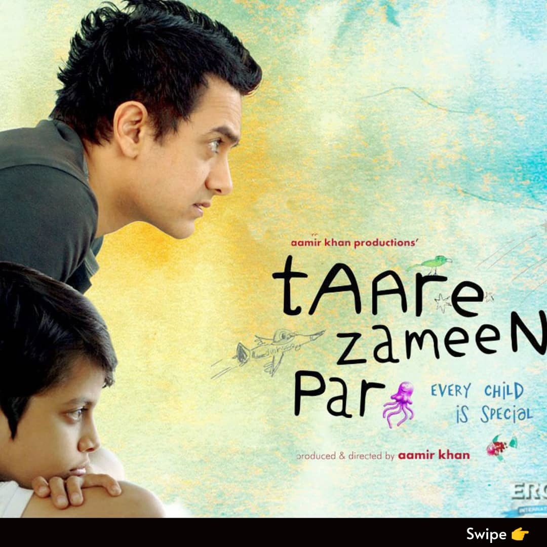 Filmy Friday Review- Taare Zameen Par.  Do Comment your thoughts on this movie👇 . . #aamirkhan #review #fridayreview #filmyfriday #taarezameenpar #dyslexia #kid #movie #awareness #bollywoodmovies #cinemareview #amolgupte #tiscachopra #culturecanvasentertainment