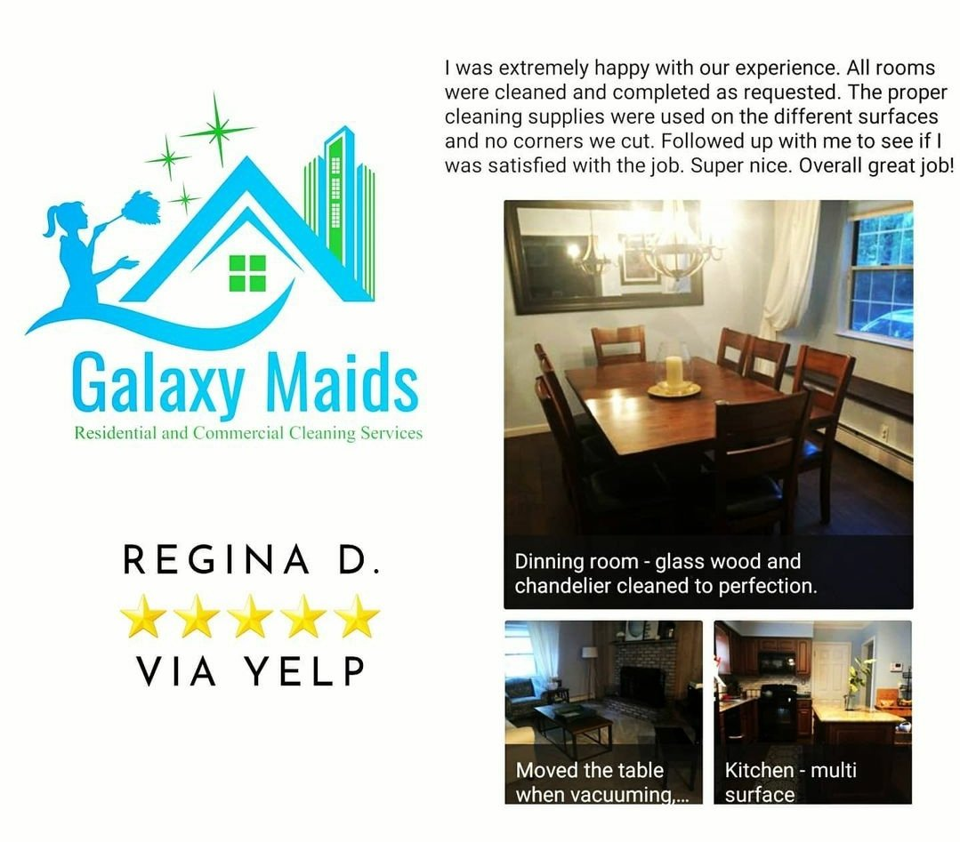 Thank You, Regina! A #FlashBackFriday review from 2020. Good Morning New York City & Long Island #GalaxyMaids #Cleaning