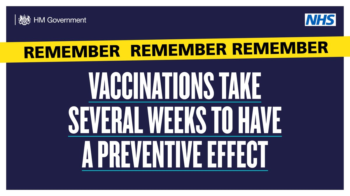 Even after you've had a #COVID19 vaccination, you still need to follow the rules.   So please continue to #StayHome and only leave for legally permitted reasons.  ➡️