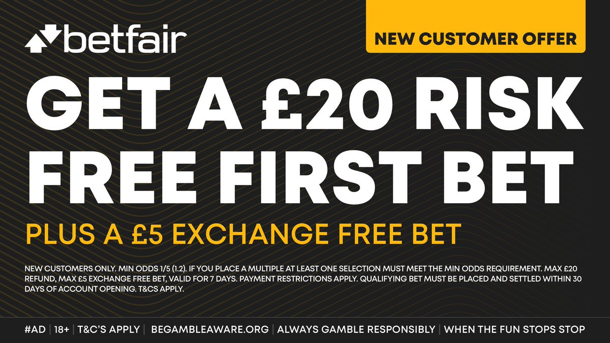 Tonight's Mixed Acca has been boosted with Betfair! ☑️  Bet up to £20 & get your MONEY BACK in CASH if you lose + a £5 FREE BET to use on the exchange when you join them HERE:   #Ad | New Customer Offer | 18+ | T&Cs Apply |