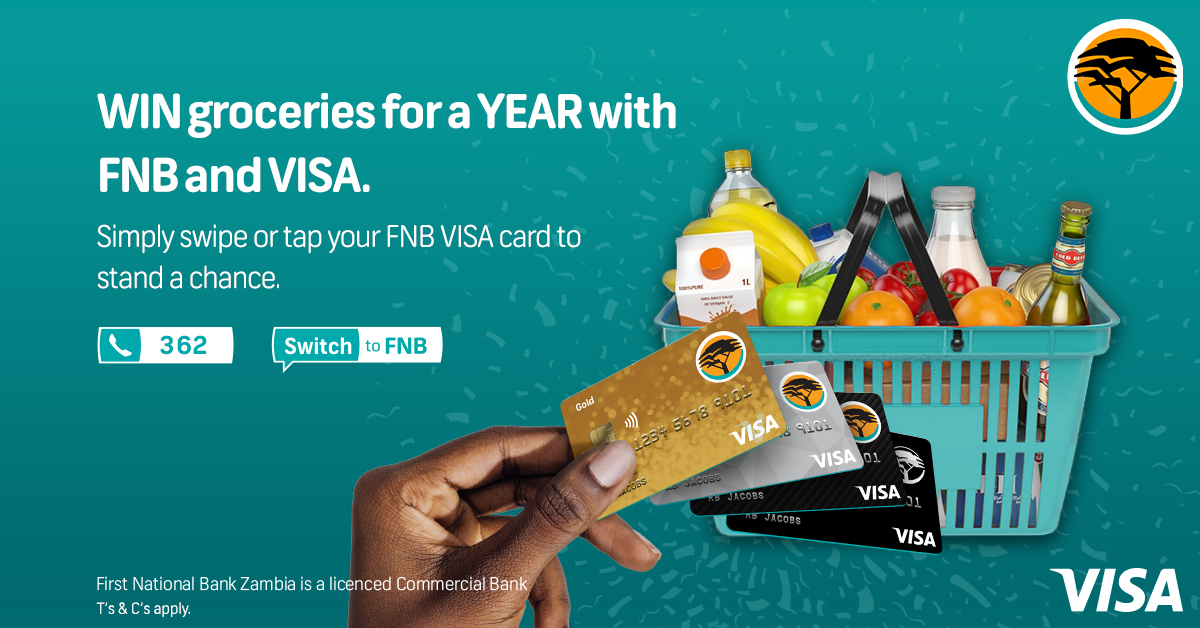 FREE groceries for a YEAR are up for grabs courtesy of FNB and Visa. Simply tap or swipe your FNB Visa debit card to stand a chance of sorting your grocery shopping for 12 months straight #Tap #Swipe #Win https://t.co/fk08vXdOKG