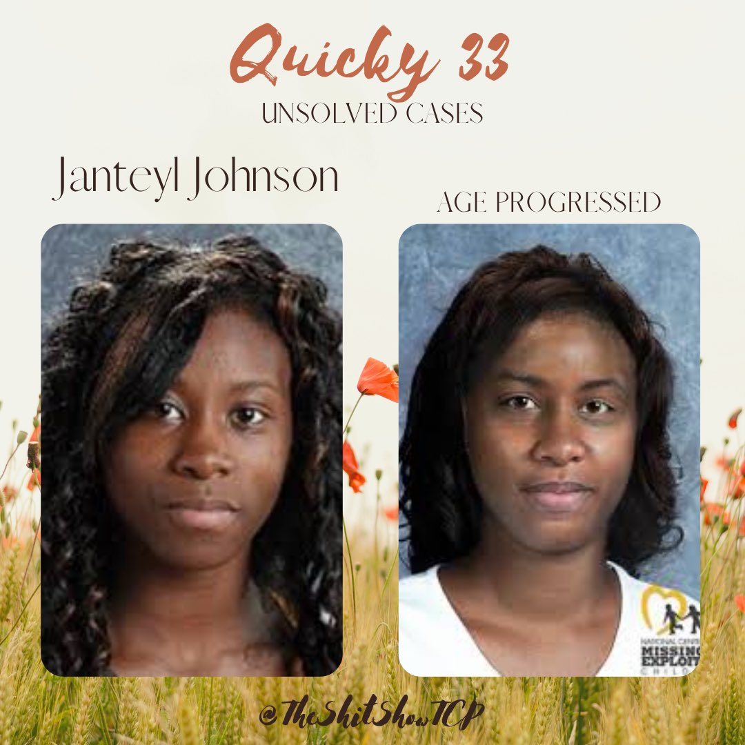 Talysa covers the disappearance of Janteyl Johnson. Sarah covers the case of a missing young mother named Courtney Holden.     #shitshowtcp #unsolved #missing #whereisjanteyl #janteyljohnson #MMIW #courtneyholden #disappeared #fridaythoughts