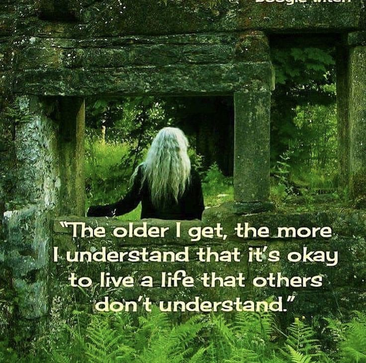 """""""The older I get the more I understand that it's ok to live a life that others don't understand, or need to approve of""""  We don't need the approval of others, sometimes a thought that only arrives at #midlife.💜 Just be..... #FridayThoughts #FridayFeeling #empoweringwomen"""