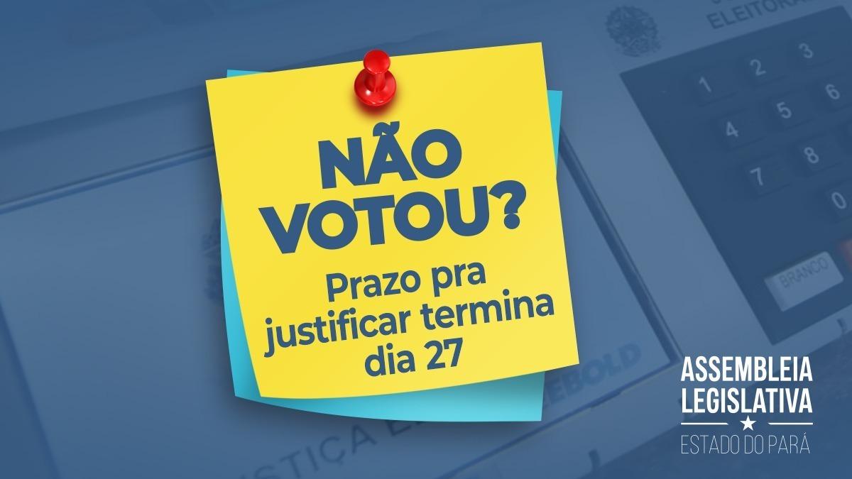 Se por algum motivo você não pôde votar nas últimas eleições, corre que o tempo pra justificar termina dia 27! ⏳ . #Eleições #Eleições2020 #Justificativa #Voto #Prazo #Encerrando.