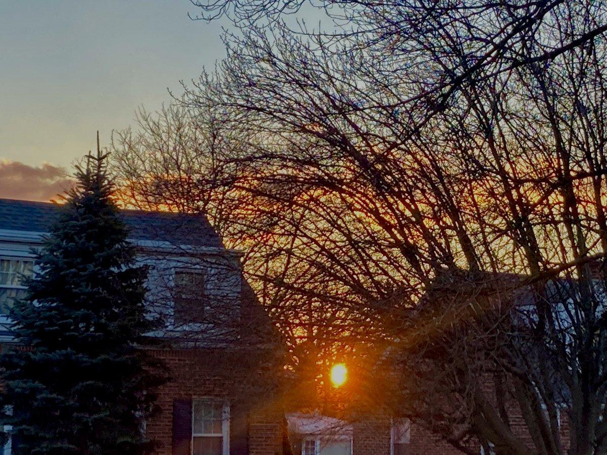 Peek-a-boo #sunrise #tgif #fridaymorning