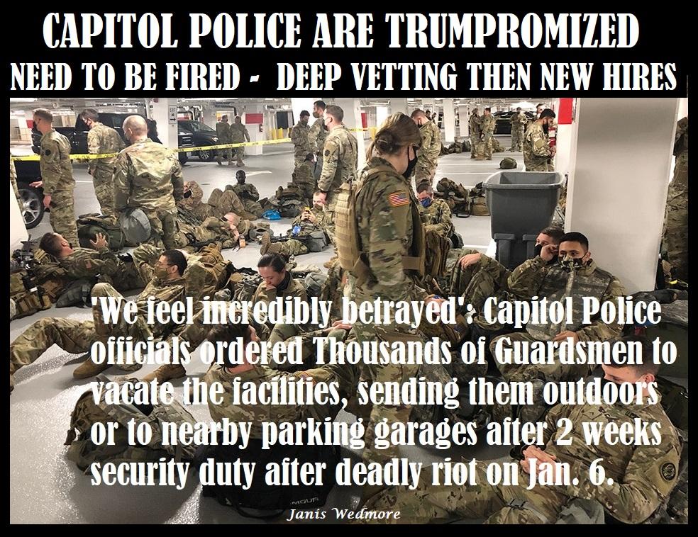 @Morning_Joe @TheDemocrats @SpeakerPelosi @SenSchumer @JoeBiden @KamalaHarris @amyklobuchar @ericswalwell @RepAdamSchiff @jamie_raskin @maddow Who is responsible for Capitol Carnage goes deep-GOP-Capitol Police is #Trumpromized-Guns on House floor-kicking out the National Guard https://t.co/5B9F5jMHHO