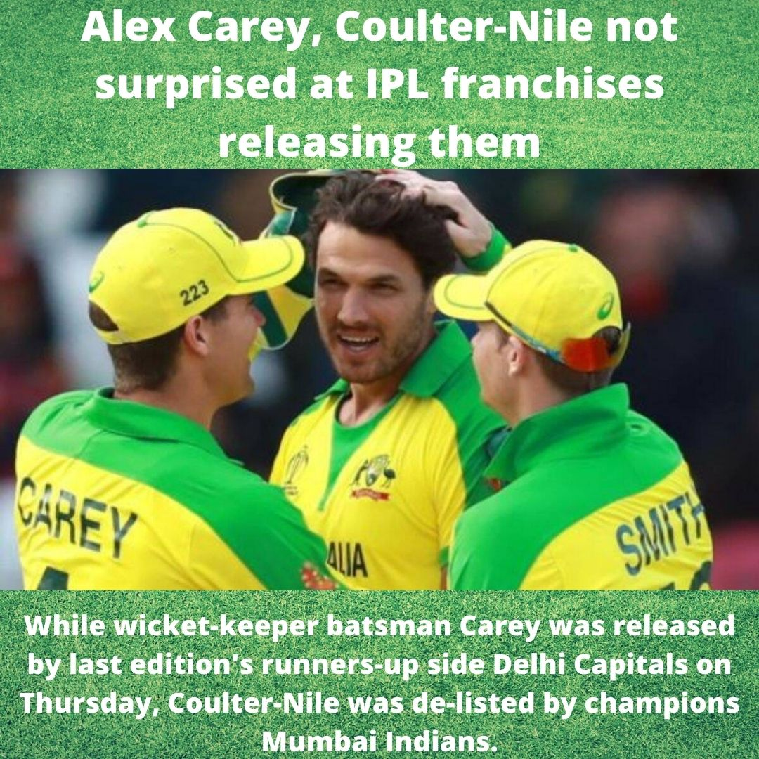 """""""It wasn't a surprise. Those things, you get a bit of an inkling for and I didn't play a lot of cricket, just sat on the sidelines, so it probably makes sense to open that spot up for someone else,  . . . #alexcarry #australia #australiacricket #bcci #icc #mumbaiindians"""