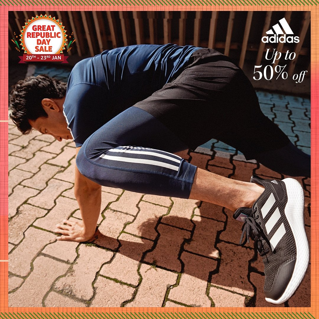 Go further than you ever have before with performance-focused footwear & clothing from adidas! Get your favorite adidas gear at up to 50% off at the #AmazonGreatRepublicDaySale so hurry & shop now:   #Footwear #Shoes #Sale #AmazonFashion #HarPalFashionable