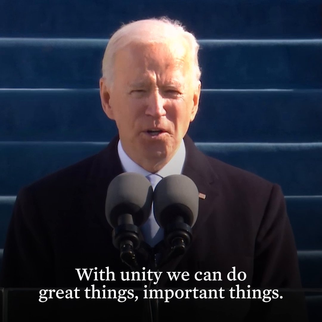 With unity, we can do great things.