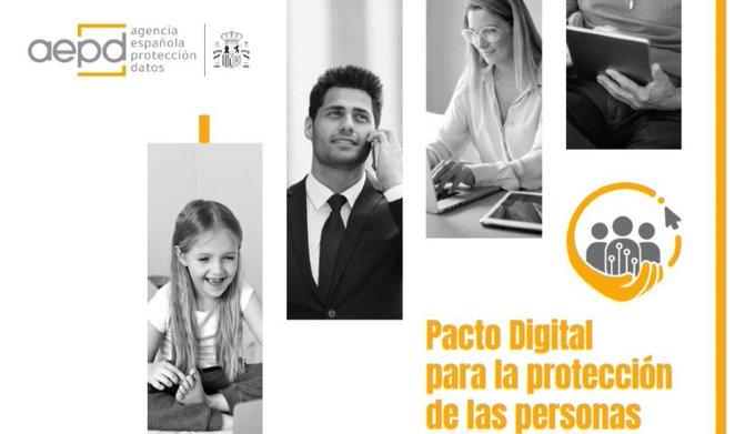 🧑💻 Como usuarios de Internet, todos debemos tomar conciencia sobre las consecuencias de difundir contenidos sensibles   @FundacionTef se suma al #PactoDigitalAEPD