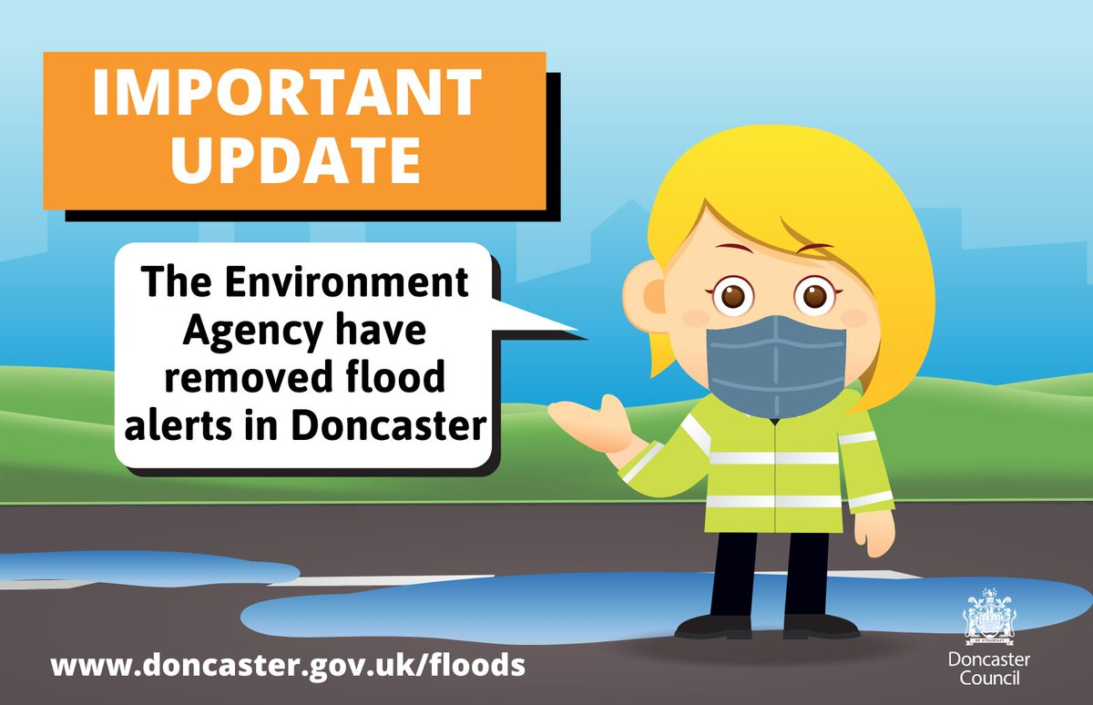 The Environment Agency have now removed the flood alerts which were in place in Doncaster.  Whilst this is of course good news, water levels still remain high and we will continue to monitor the situation closely with staff on the ground today and into the weekend.