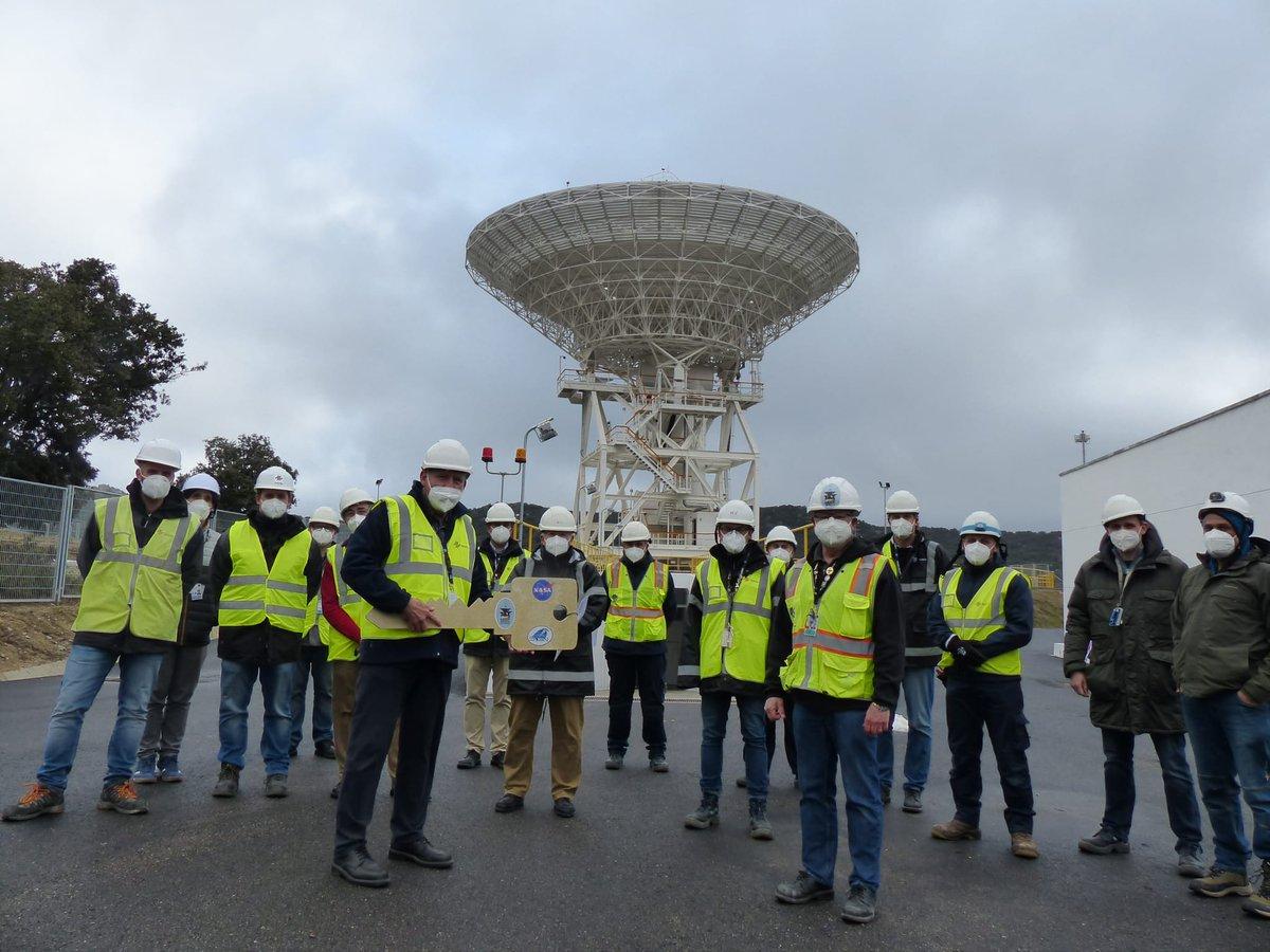 La nueva 📡 antena DSS-56 construida por el #INTA para el Complejo de Comunicaciones del Espacio Profundo de la NASA 👨🚀 en📍Robledo de Chavela, destinada a la comunicación con misiones robóticas🤖 de exploración del ☀️ Sistema Solar.