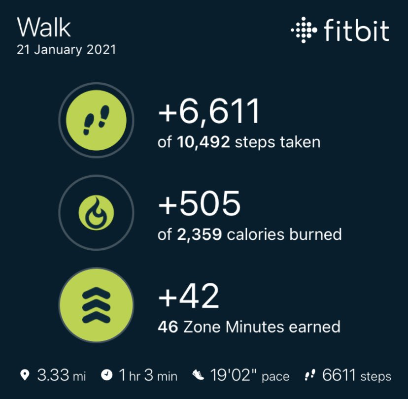 @REDJanuaryUK last nights walk. Best pace yet, tried to walk fast & give it my all. Usually just enjoy being outdoors and the fresh air as it's not a target/goal thing. #REDJanuary2021 #mind #health #fitness #exercise #redjanuary #fitbit #beyou #findit #explore #create #webdev