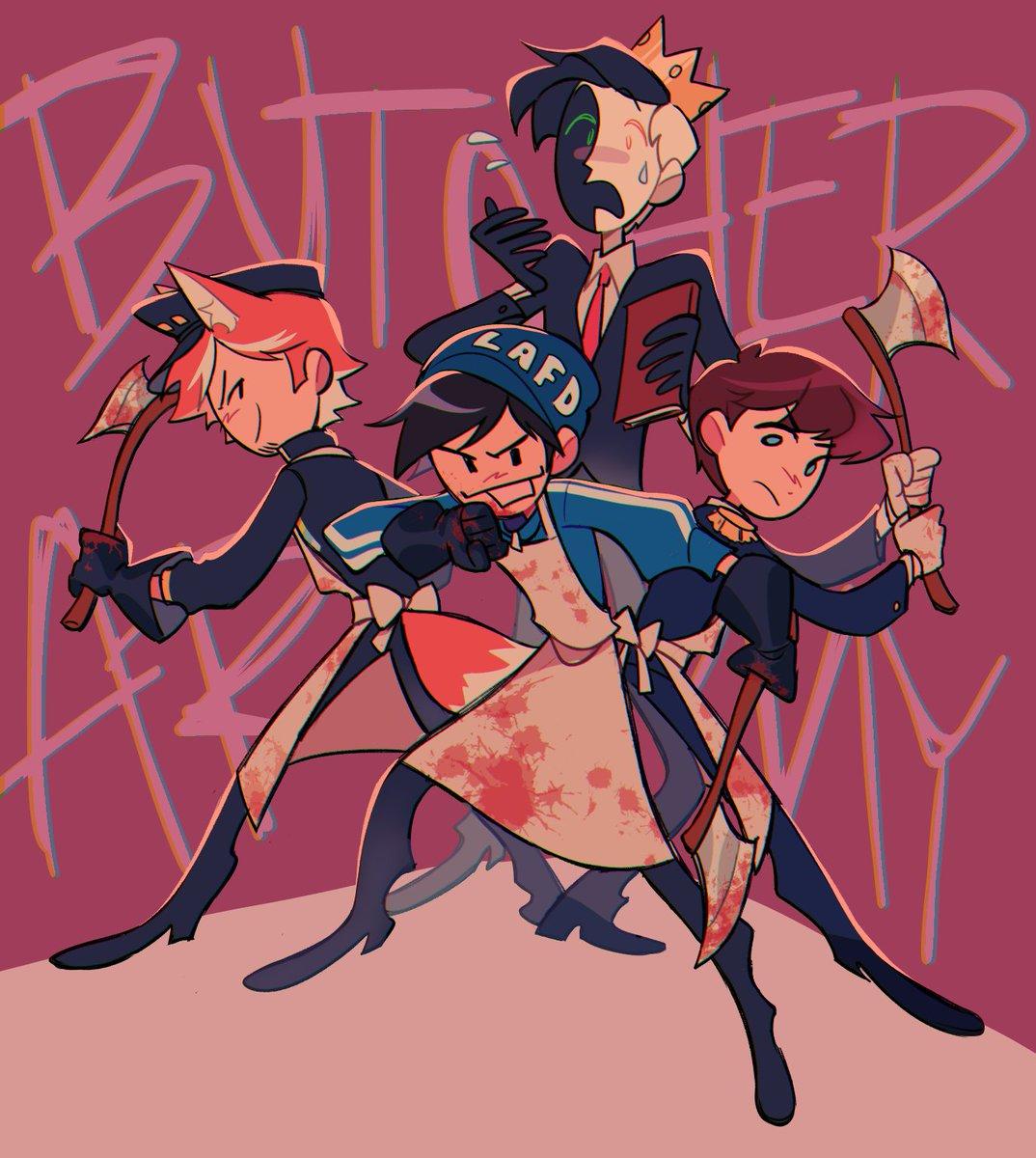 Butcher army #tubbo #ranboo #quackity #fundy #mcytfanart #dreamsmpfanart #dreamsmp #mcyt #dsmp