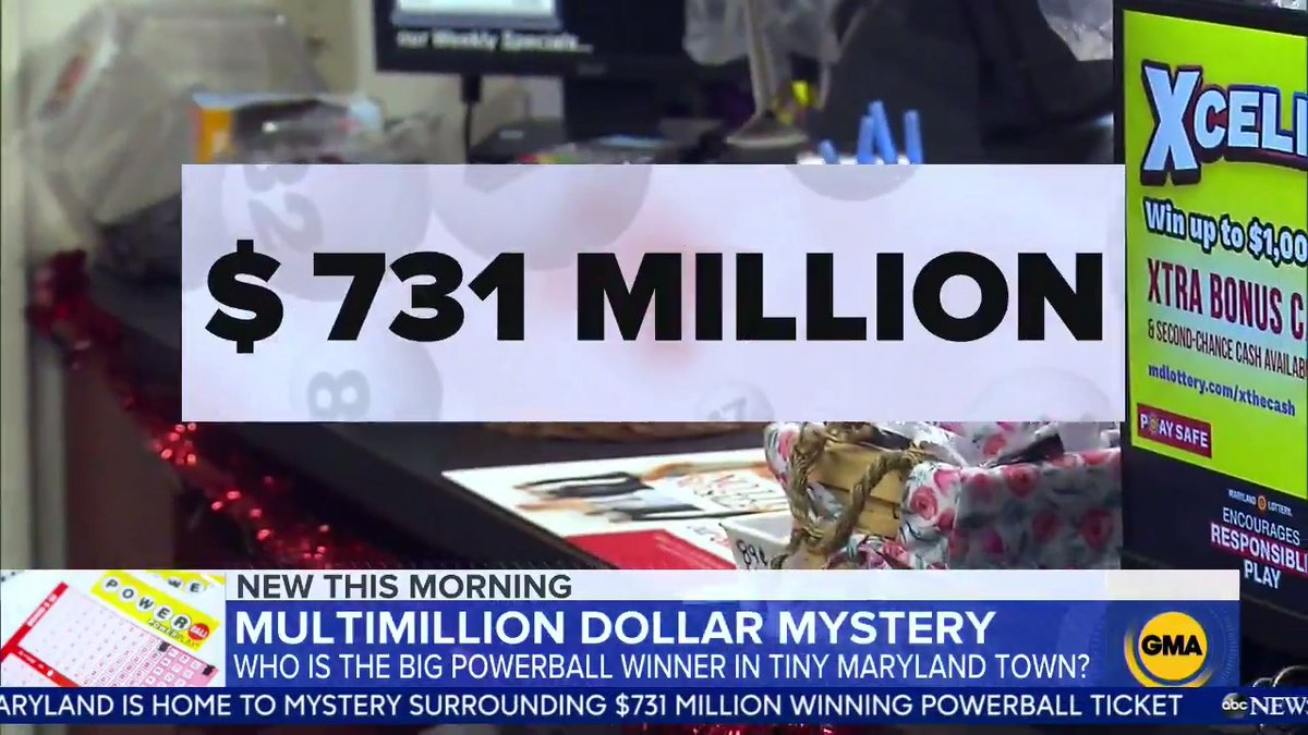 A winning ticket for Wednesday's Powerball, worth $731 million, was sold in the small northwestern Maryland town of Lonaconing — but the lucky winner remains a mystery. 💰❓  @ReeveWill has the story.