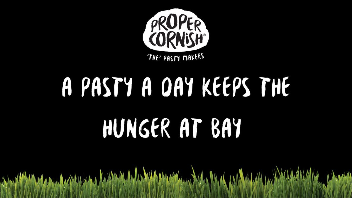 """When hunger strikes the only thing you can do is say """"right, time for a pasty!""""  #ThursdayThoughts"""