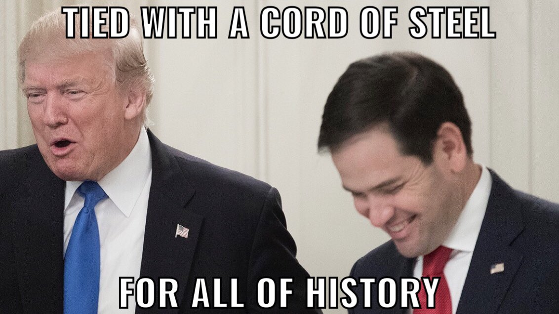 """@marcorubio """"Maybe hate is what we need if we're gonna get something done."""" -@realDonaldTrump"""