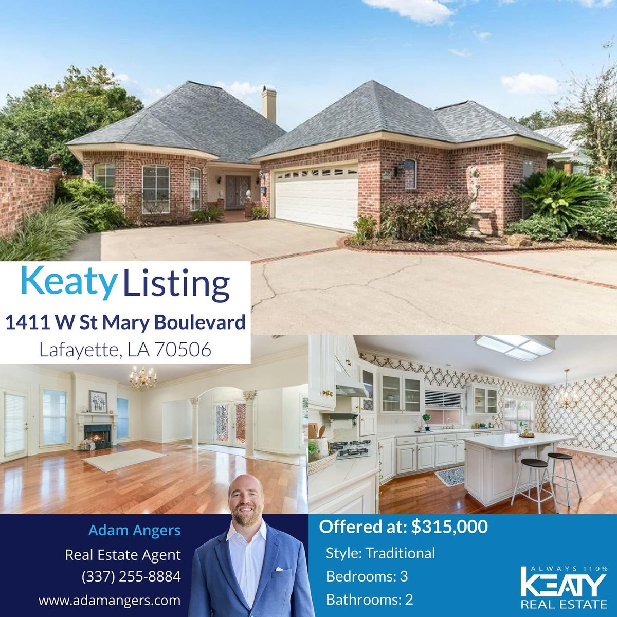 ✨ AMAZING KEATY LISTING! 🏠 1411 W St Mary Blvd 💸 listed at $315,000 🛏 3 🛁 3  #keatyrealestate #always110 #newlisting #realestate #househunting #dreamhome #forsale #realtor #houses #realestateagent #home #property #realtors