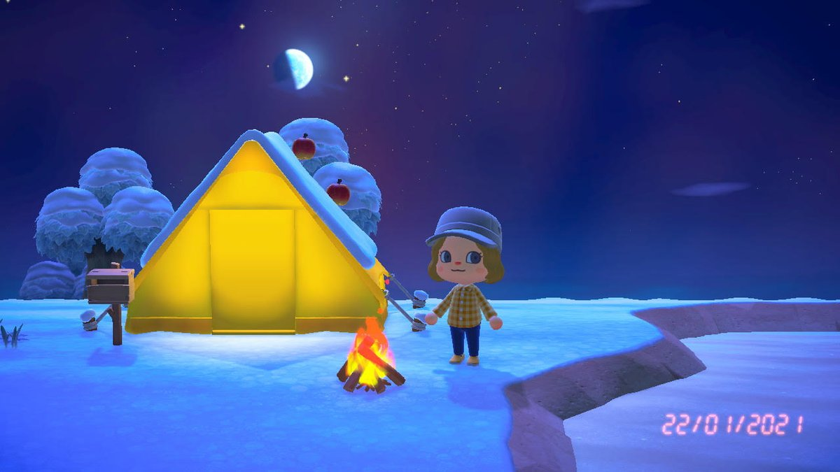 Finally ! I can play ! 😽  #AnimalCrossingNewHorizons  #AnimalCrossing #NintendoSwich #winter #ACNH #cute