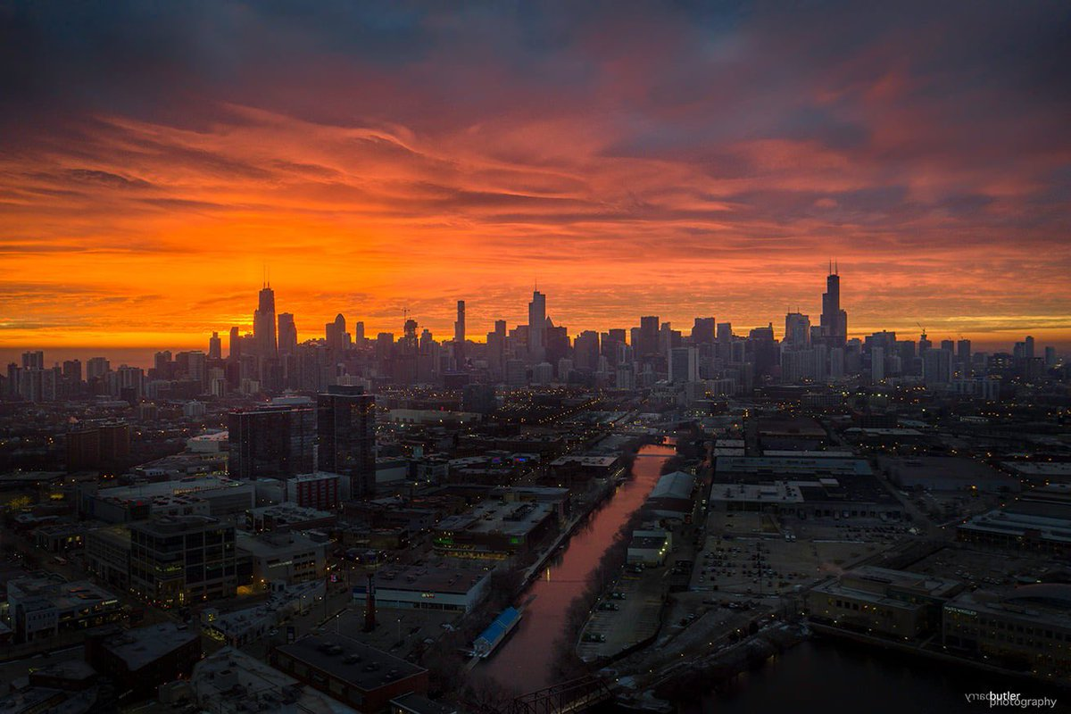 Sunrise in Chicago, January 2021