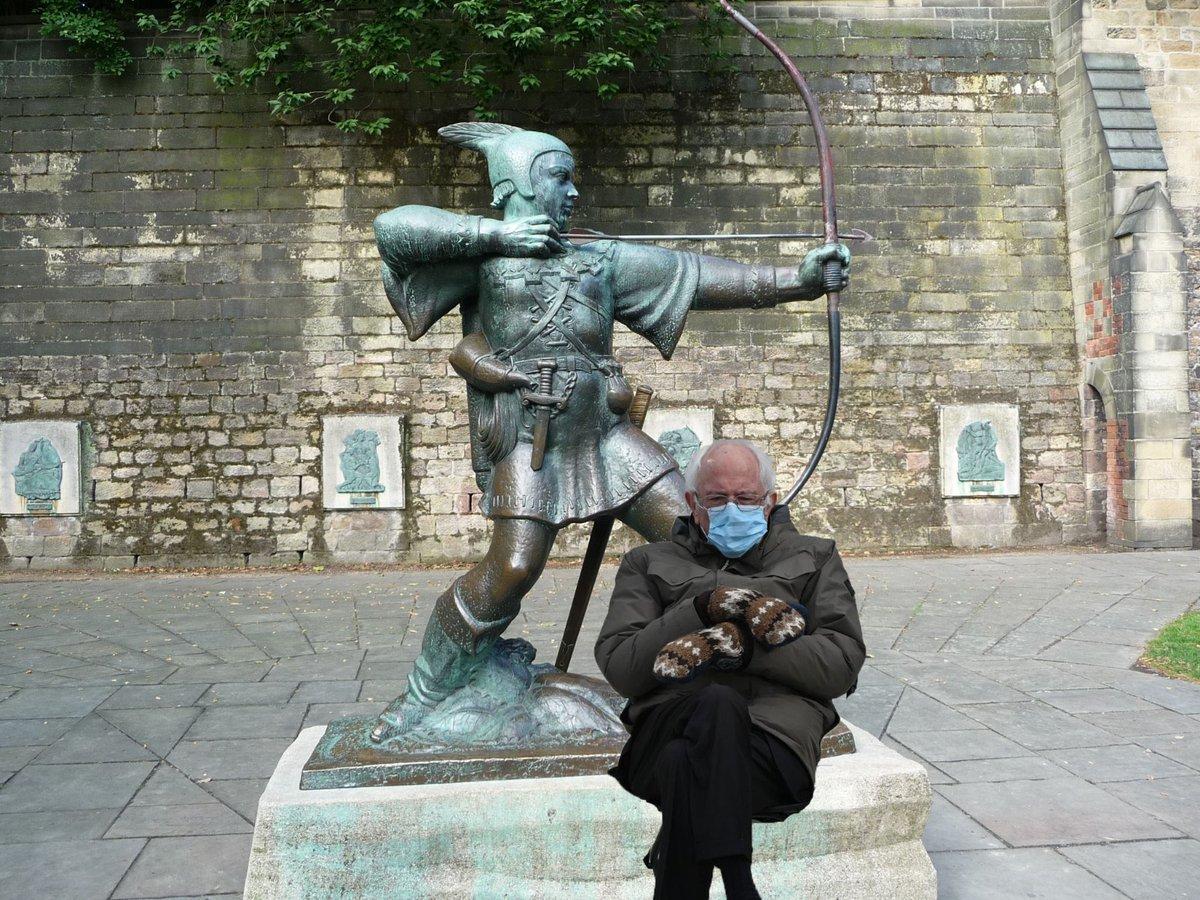 The REAL Robin Hood 👏🏽 #Nottingham
