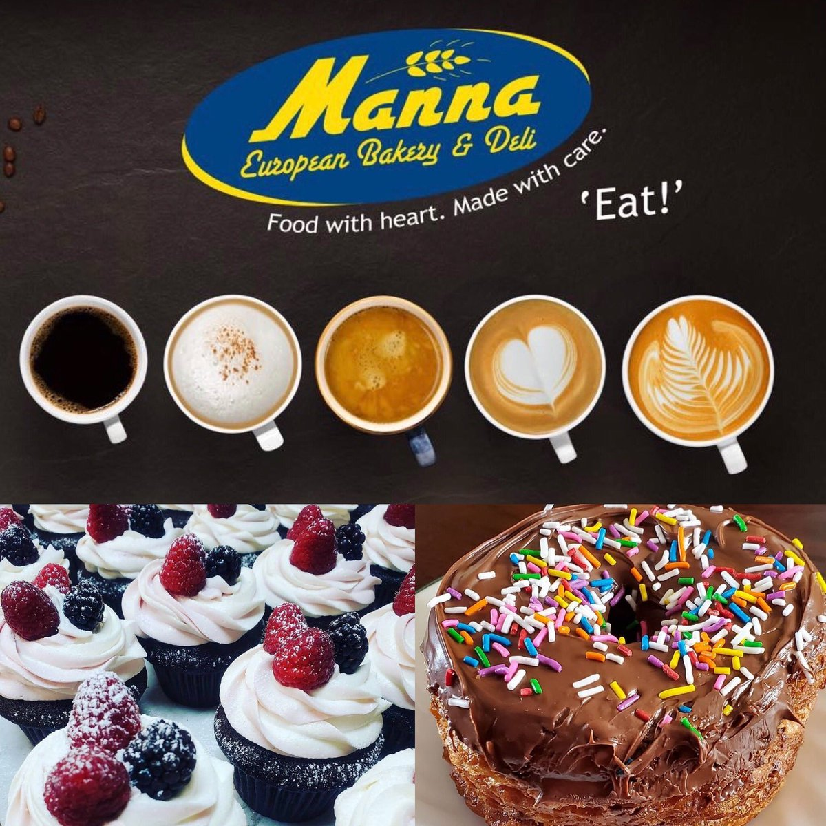 You deserve a special treat from Manna today!   Happy 1/2 Snow Day.  Stay safe and enjoy the winter wonderland.  Featured Coffee - $1.50 Espresso - $1.95 Americano - $1.95 Latte - $2.95 Cappuccino- $2.95  #winter #yyteats #newfoundlandandlabrador #snowday #yummy #snow