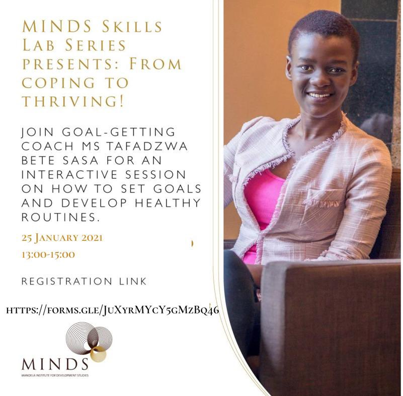 Week 1 of the MINDS Skill Lab is about to kick off. Make sure you're #registeredandready  Goal Setting: 25/01   Proposal writing: 27/01   Effective Communication and Management of Teams: 28/01 and 29/01