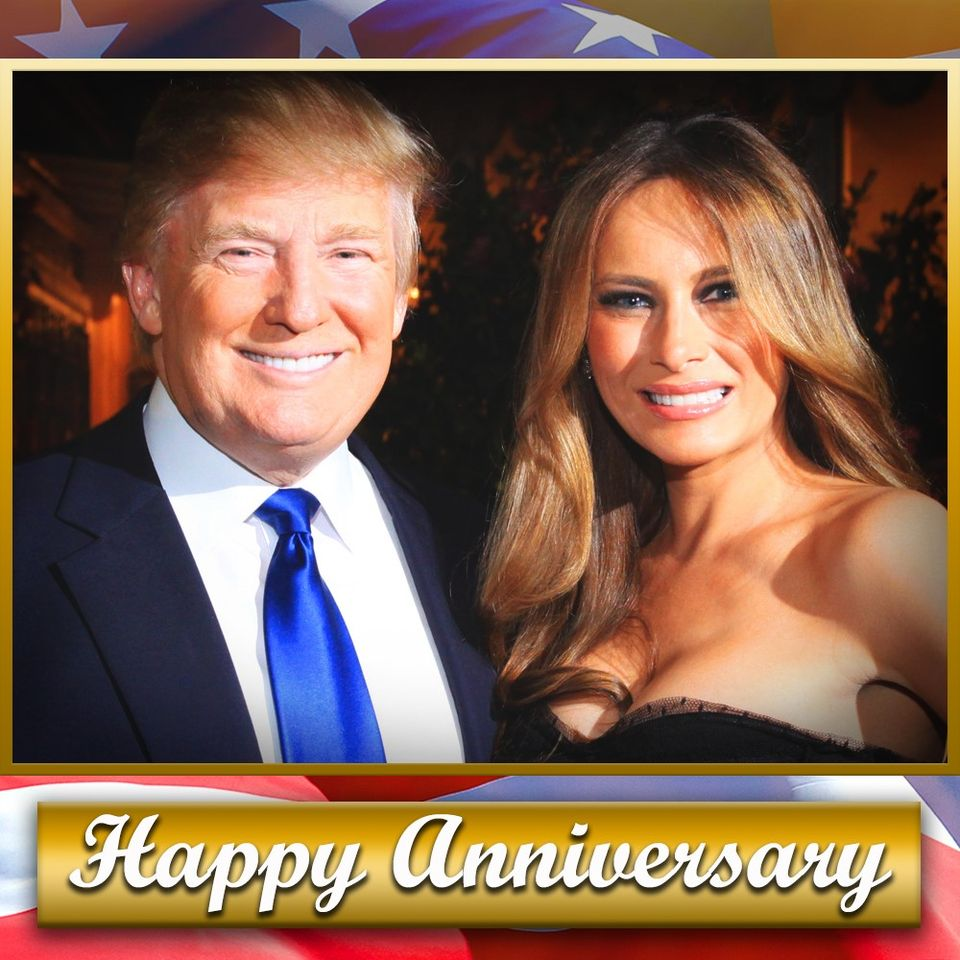 HAPPY ANNIVERSARY! Former President Donald Trump and former first lady Melania Trump are celebrating their 16th wedding anniversary today! ❤️🎉🥂