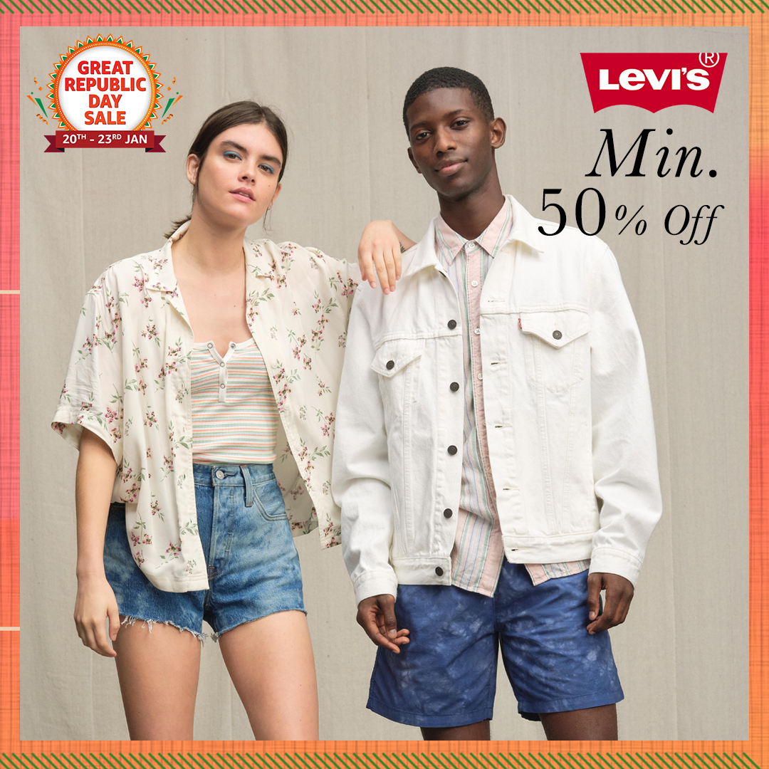 Wear your style and wear it well with comfortable clothing & denim's from @Levis_IN. Shop now & get them at min. 50% off only at the #AmazonGreatRepublicDaySale:   #Levis #Apparel #NewBeginningBigSavings #Sale #Brands #AmazonFashion #HarPalFashionable