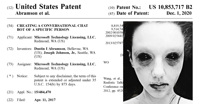 """Microsoft files a patent to bring back dead loved ones as AI """"chatbots"""" from their digital harvested data, having seemingly learned nothing from Black Mirror"""