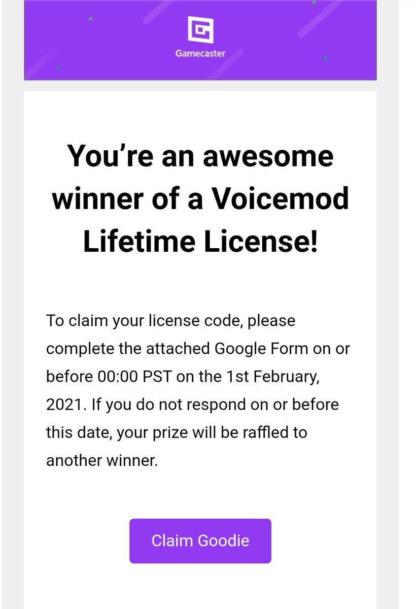 Thankyou so much @gamecasterapp for the lifetime license to voicemod. I'm going to have an absolute blast playing with this! #twitchstreamer #gamers #community