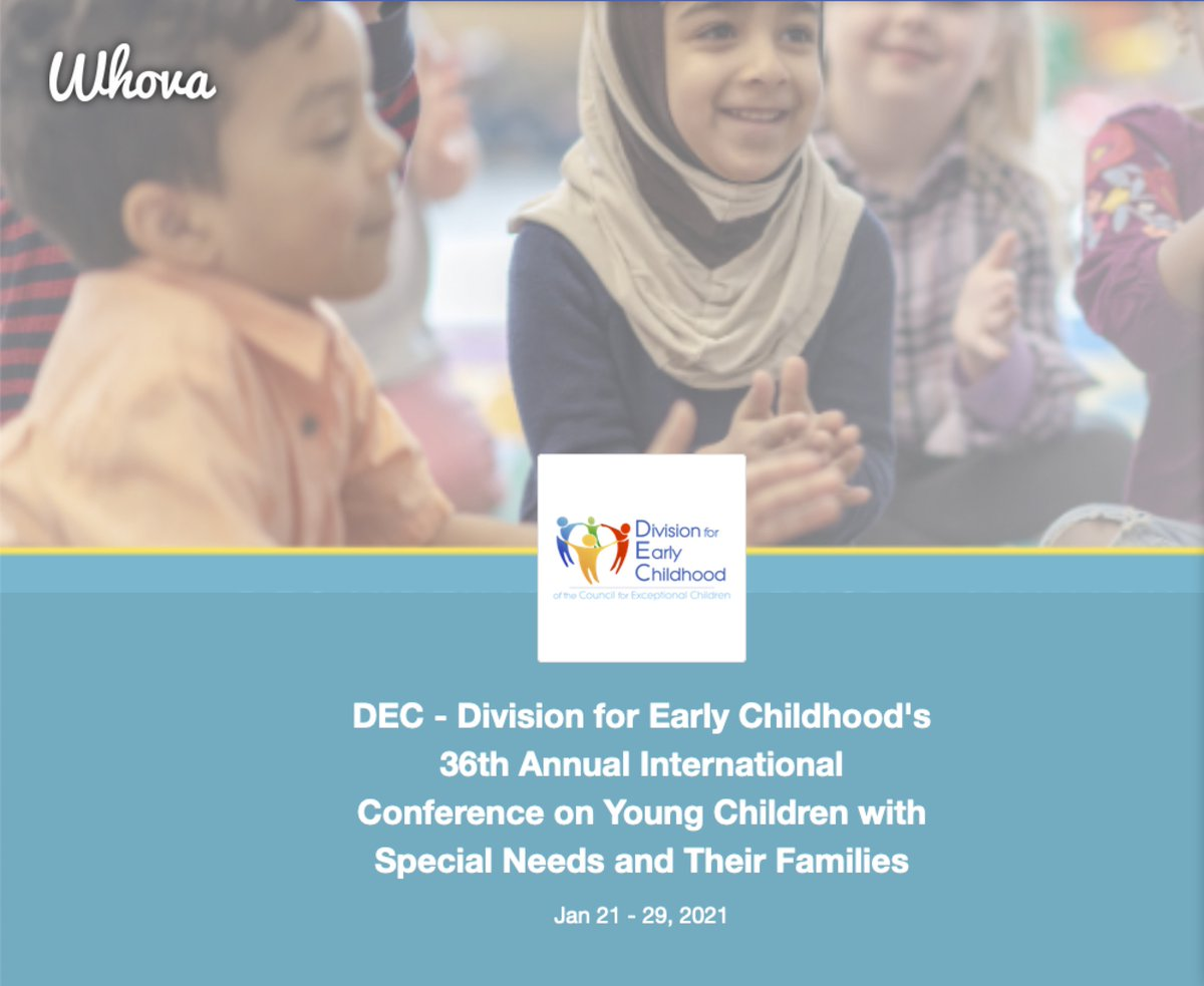 ". #EarlyChildhood #Conference #EarlyChildhoodSpecialEducation #InclusiveEducation #EducationMatters   Hope to ""see"" you there. #VirtualConference @decsped"