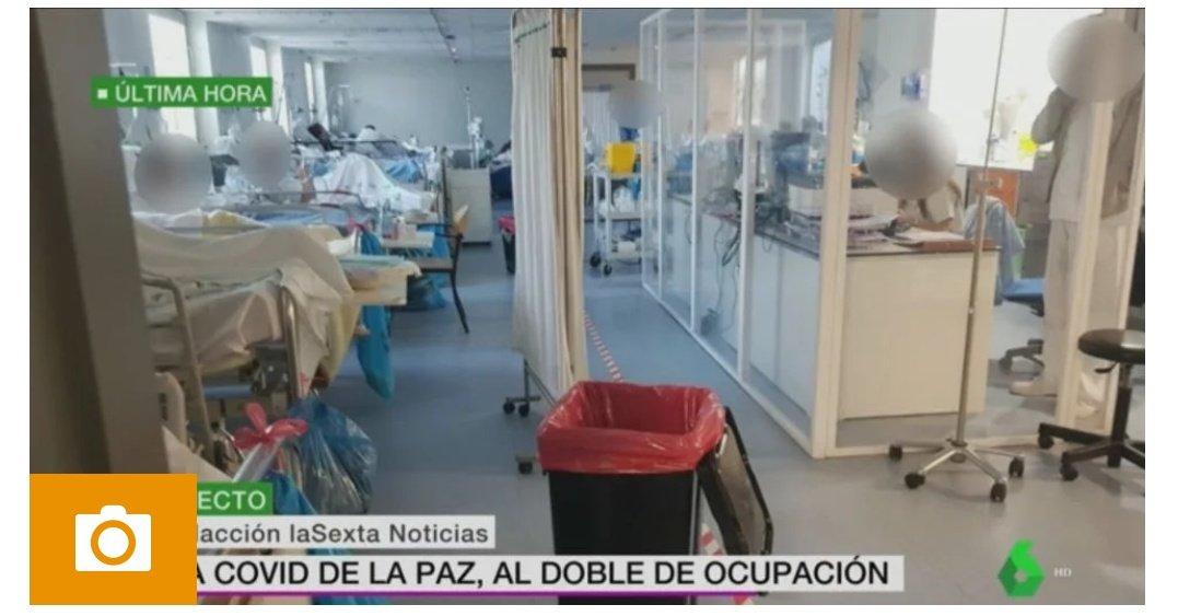 """A todos lo que pregonaron """"Salvar la Navidad"""", gracias por saturar de nuevo las urgencias y uci del #HospitalLaPaz al doble de su capacidad, los pacientes en el gimnasio de nuevo de mala manera. Gracias por ese egoísmo. Ojalá lo sufrierais solos sin molestar a nadie #navidad2020"""