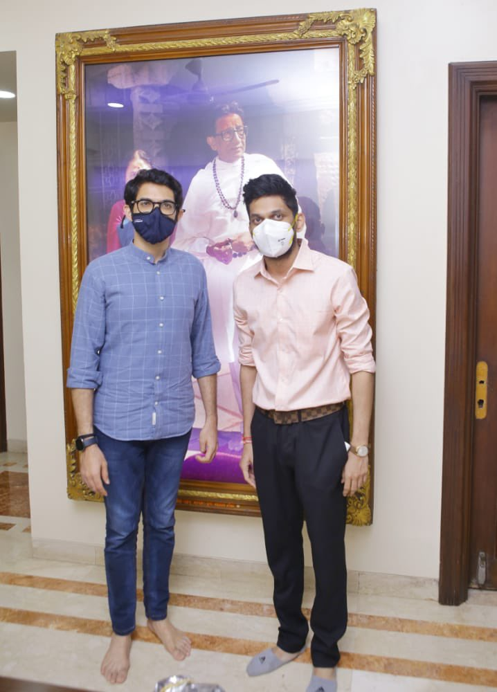 Met my Mentor minister @AUThackeray ji today. Thank you for your support, guidance and inspiring me always always Saheb  Today i got appointed as a member of National Service Scheme State advisory Commitee,Maharashtra  #MyMotivation   महाराष्ट्र शासन उच्च व  तंत्र शिक्षण विभाग,